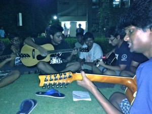 The first Open Jam of the semester, held at Himalaya Lawns