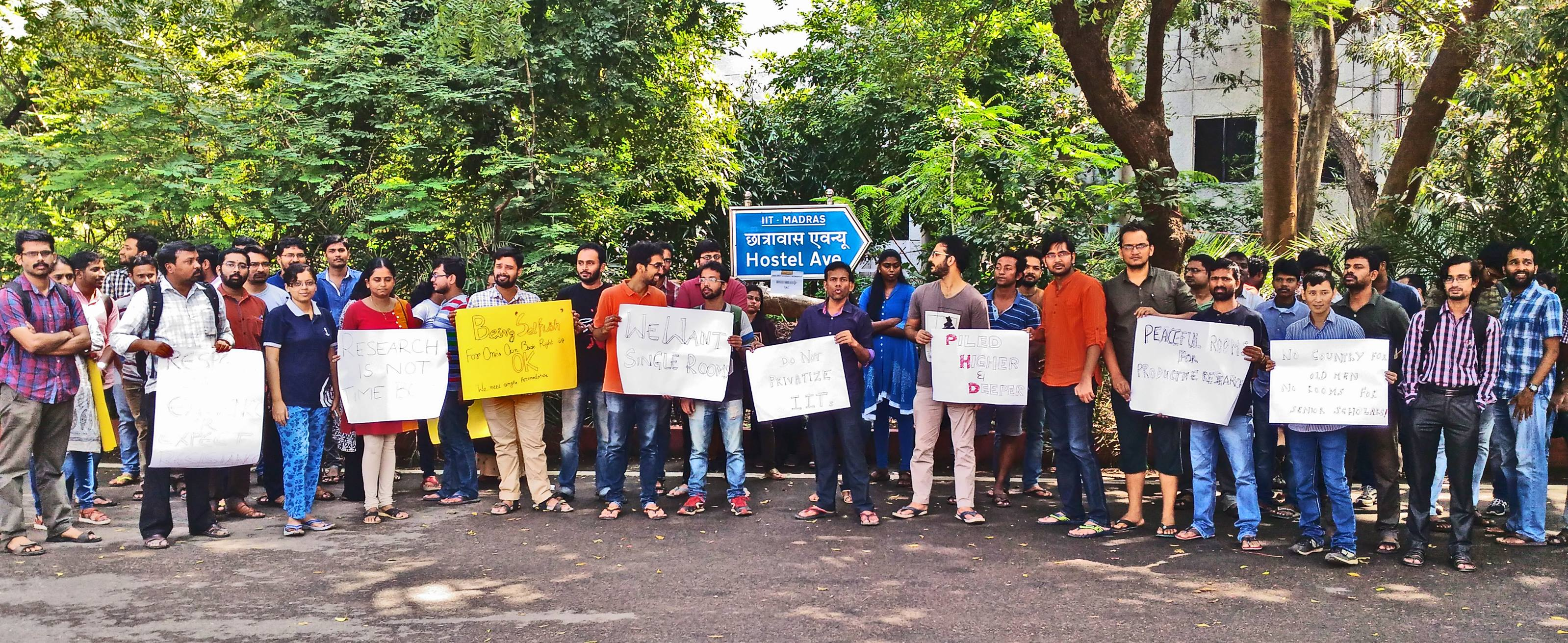 Accommodation Crisis in Insti: Research Scholars Protest